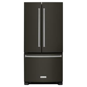22 Cu. Ft. 33-Inch Width Standard Depth French Door Refrigerator with Interior Dispenser - Black Stainless Steel with PrintShield™ Finish