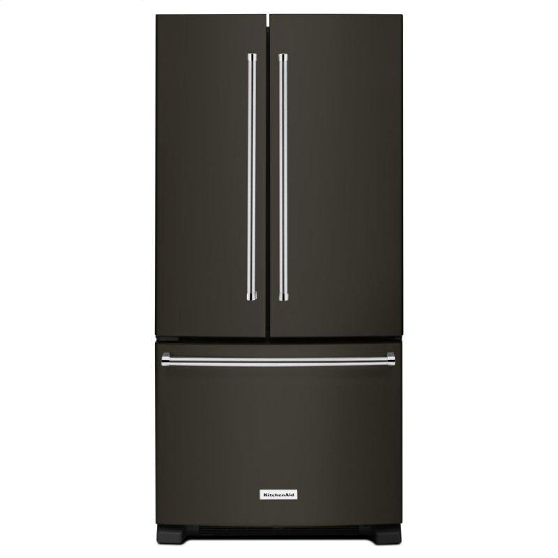 22 Cu. Ft. 33-Inch Width Standard Depth French Door Refrigerator with Interior Dispenser - Black Stainless Steel with PrintShield™ Finish