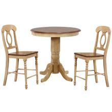 See Details - Brook Round Pub Table Set w/Napoleon Stools (3 piece)