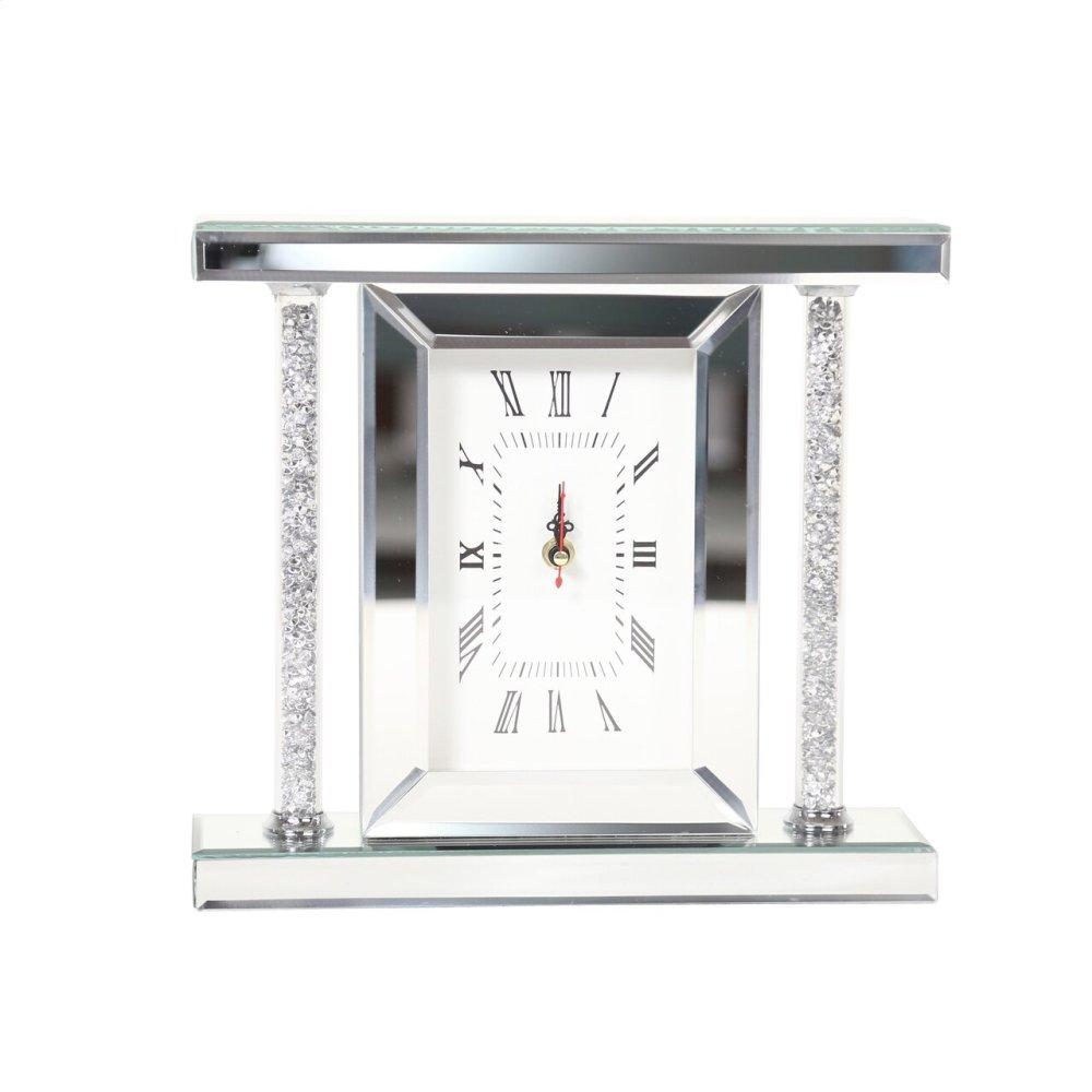 """See Details - Mirrored & Glitter Table Clock, 7.75"""""""