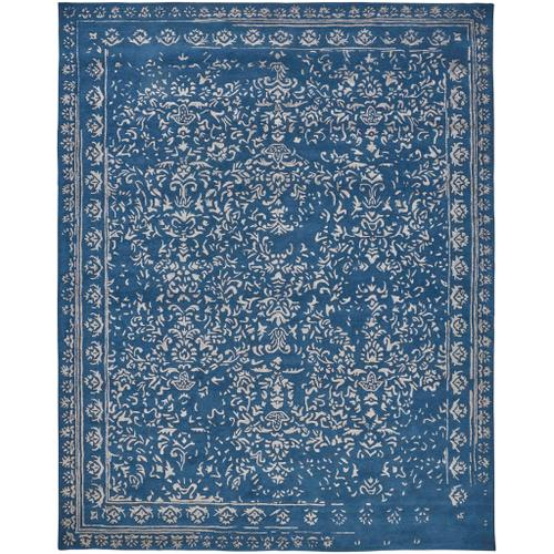 Feizy - BELLA 8014F IN BLUE-SILVER