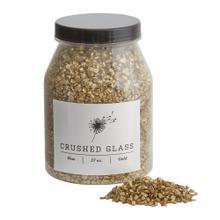 37 oz Gold Crushed Glass (Fine Option)