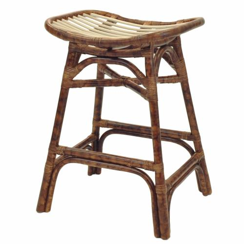 Beyla Rattan Counter Stool, Marble Brown