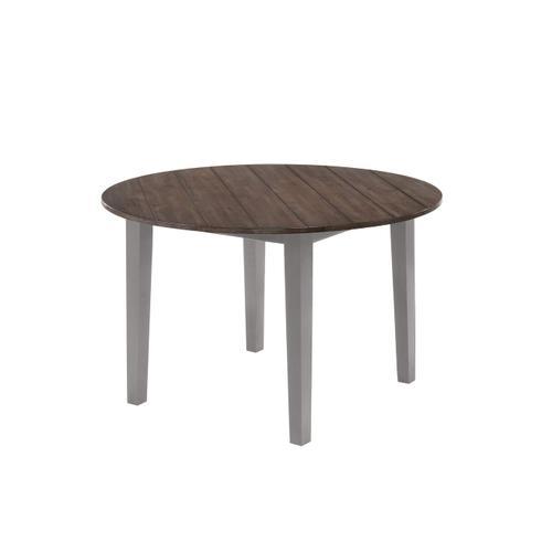 5059 A La Carte Grey Round Dining Table