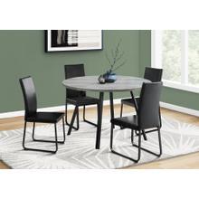 "See Details - DINING TABLE - 48""DIA/ GREY RECLAIMED WOOD / BLACK METAL"