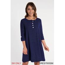 See Details - Pinstripe Henley Dress - S/M (2 pc. ppk.)