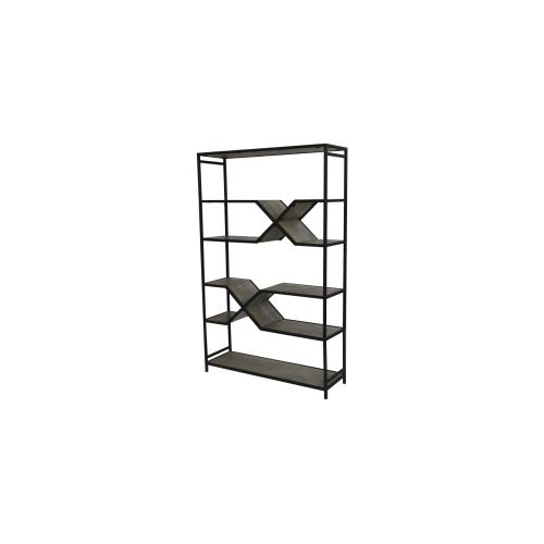Exeter Mango and Metal Etagere