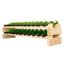 2 x 11 Bottle Modular Wine Rack (Natural)