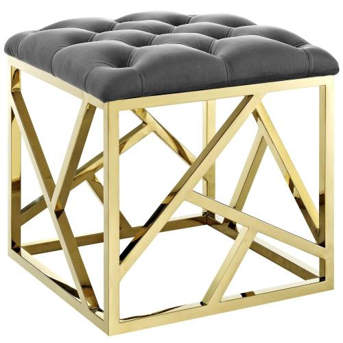 Modway - Intersperse Ottoman in Gold Gray