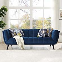 Bestow Performance Velvet Sofa in Navy