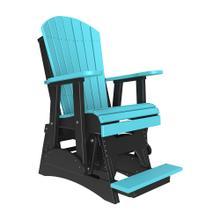 See Details - 2 Adirondack Balcony Glider Chair, Aruba-blue-black