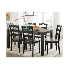 Froshburg Table & 6 Chairs Grayish Brown/Black