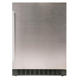 """Azure Home ProductsRefrigerator 1.0 - 24"""" Solid Stainless Door"""