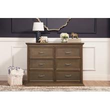 Mocha Foothill-Louis 6-Drawer Assembled Dresser