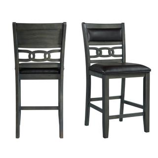 See Details - Amherst Counter Side Chair W/PU Cushion Grey Finish (2 Per Pack)
