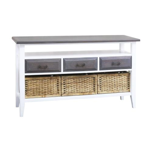 Carrie 3-drawer Console Table With Baskets