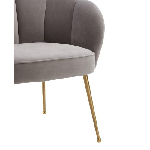 Product Image - Peony Grey Velvet Dining Chair
