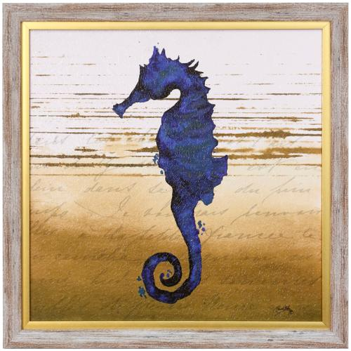 Style Craft - COASTAL BLUE III  23in w X 23in ht  Textured Framed Print  Made in USA
