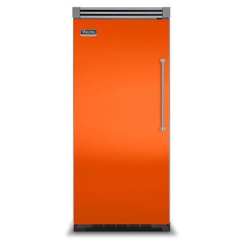 "Viking - Pumpkin 36"" Quiet Cool™ All Refrigerator - VIRB Tru-Flush™ (Left Hinge Door)"