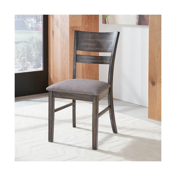Slat Back Upholstered Side Chair