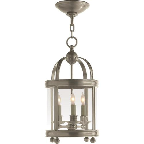 Visual Comfort CHC3426AN E. F. Chapman Edwardian 3 Light 9 inch Antique Nickel Foyer Pendant Ceiling Light