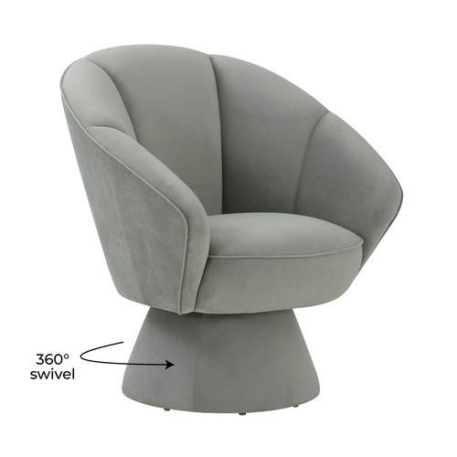 Tov Furniture - Allora Grey Accent Chair