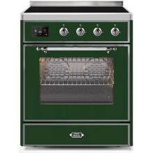 Majestic II 30 Inch Electric Freestanding Range in Emerald Green with Chrome Trim
