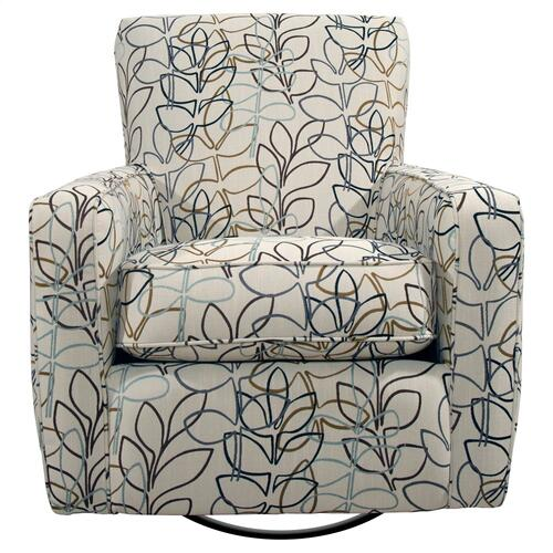 Swivel Glider, Fully Upholstered.