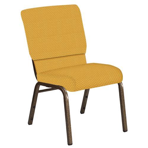 Flash Furniture - 18.5''W Church Chair in Canterbury Sand Fabric - Gold Vein Frame