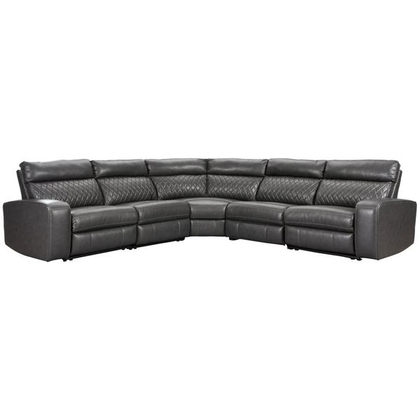 See Details - Samperstone 5-piece Power Reclining Sectional