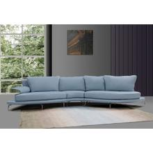 Divani Casa Andover - Modern Blue & White Sectional Sofa