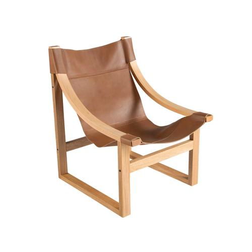 Lima Sling Chair, Natural Leather with Natural Frame