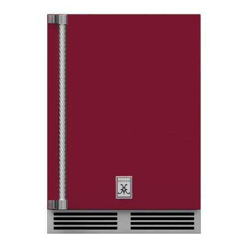 """24"""" Hestan Outdoor Dual Zone Refrigerator with Wine Storage (Solid Door) - GRWS Series - Tin-roof"""