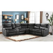 8002 GRAY Air Leather Reversible Sectional Sofa w/ Power & USB