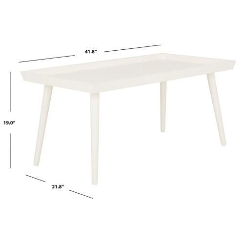 Safavieh - Nonie Coffee Table With Tray Top - Distressed White