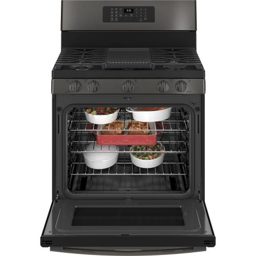 "GE Profile™ Smart 30"" Free-Standing Self Clean Gas Range with No Preheat Air Fry"