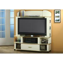 See Details - TV STAND - CHAMPAGNE / BRASS / FLAT SCREEN TV