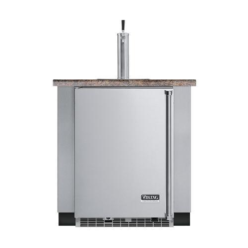"Viking - Stainless Steel 24"" Built-in Beverage Dispenser - VUBD (Right Hinge Door)"