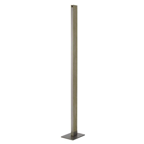Colmar integrated LED Rubber wood floor lamp with dimmer control. 24W, 2100 lumen, 3000K.