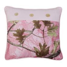 Oak Camo Pillow, 17x17 - Pink