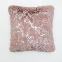 """See Details - Metallica Pillow Collection - 20"""" x 20"""" / Rose Silver Scattered / 100% Polyester, Machine Made, Made in China"""
