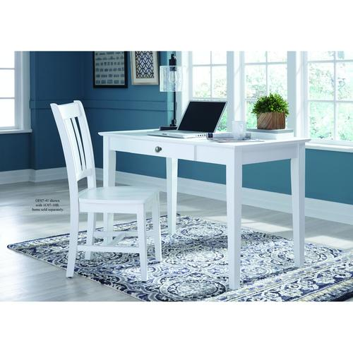 San Remo Desk Chair in Beach White