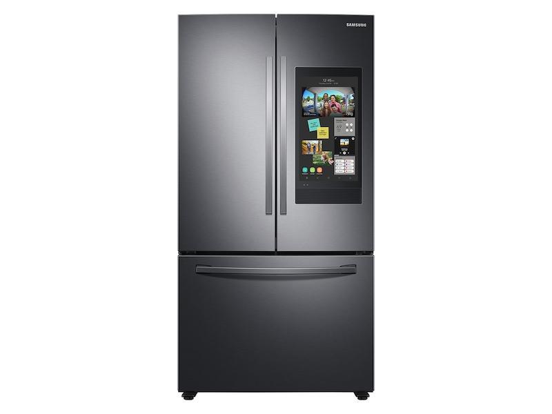 28 cu. ft. 3-Door French Door Refrigerator with Family Hub™ in Black Stainless Steel