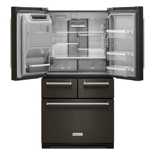 """KitchenAid Canada - 25.8 Cu. Ft. 36"""" Multi-Door Freestanding Refrigerator with Platinum Interior Design - Black Stainless"""