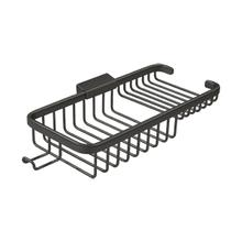 """Wire Basket 10-3/8"""", Rectangular Deep & Shallow, With Hook - Oil-rubbed Bronze"""