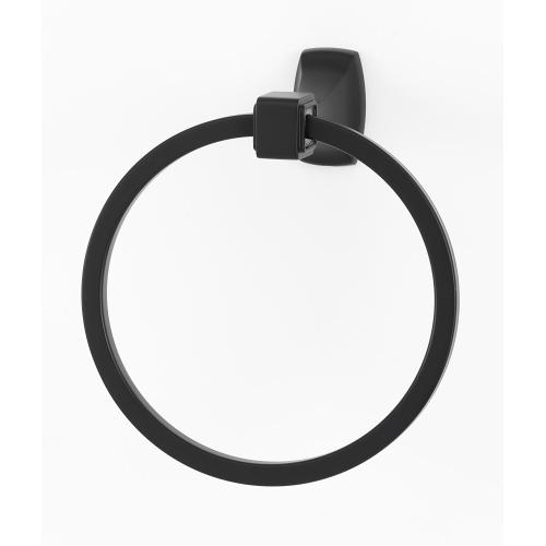 Cube Towel Ring A6540 - Unlacquered Brass