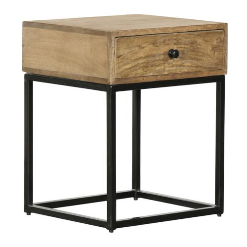Iron Base Side Table