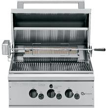 "GE Monogram® 27"" Outdoor Cooking Center with 2 Grill Burners, Rotisserie and Rack (Natural Gas)"