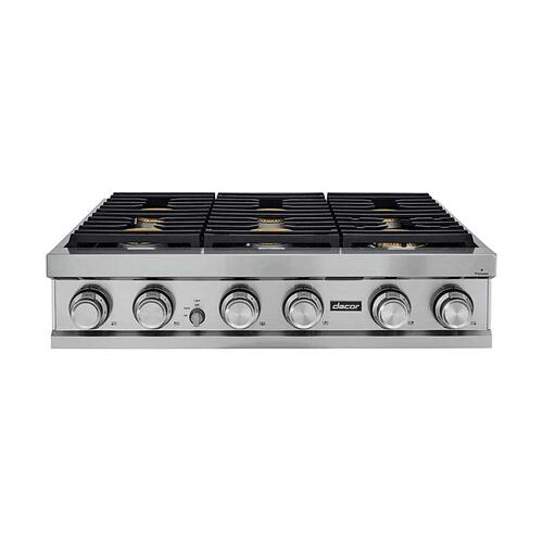 "36"" Rangetop, Graphite Stainless Steel, Natural Gas"