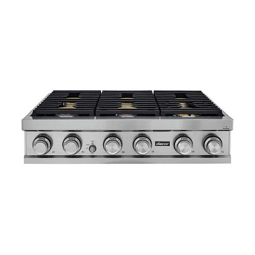 "36"" Rangetop, Graphite Stainless Steel, Natural Gas/High Altitude"